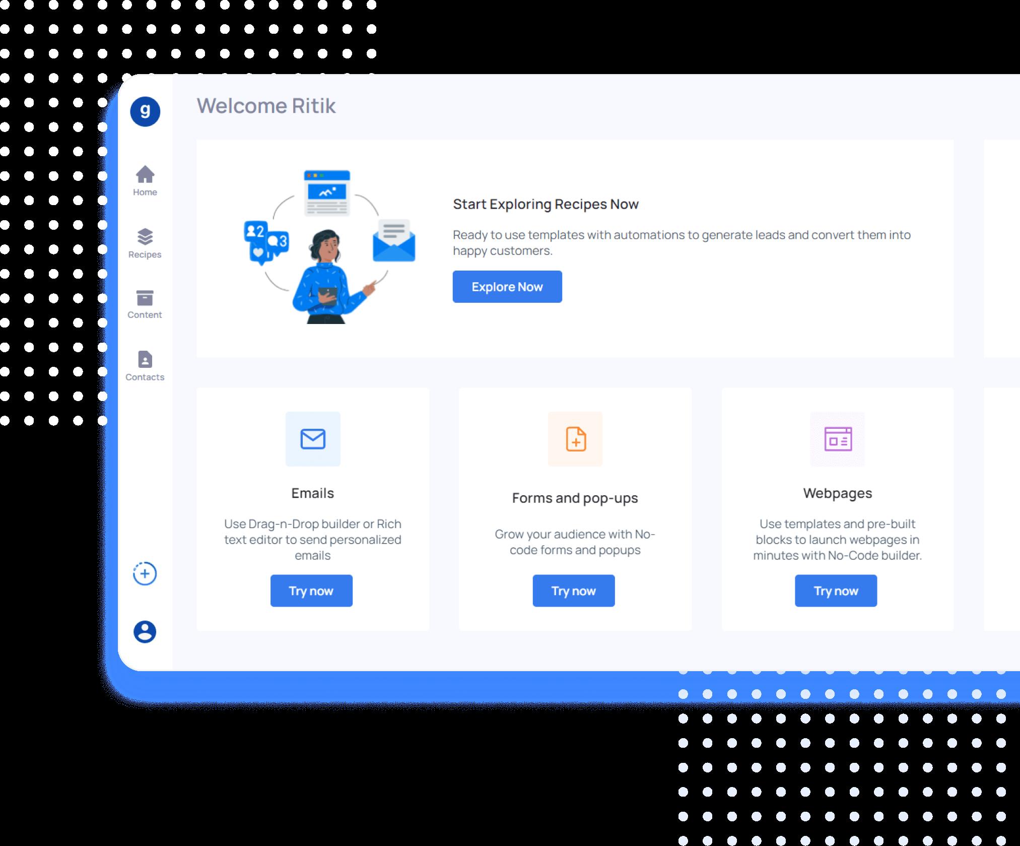 Grorapid Homepage Banner - Marketing Automation Platform